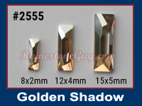 Swarovski 2555 Golden Shadow Baguette