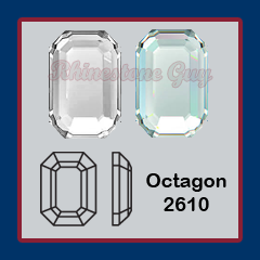 Swarovski Hot Fix Octagon 2610