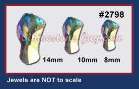 Swarovski Contour Crystal AB Sizes