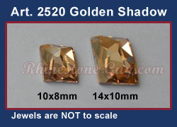 Swarovski 2520 Golden Shadow