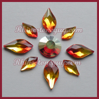 Swarovski Fire Opal Flame with Concise Rhinestone