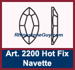 Swarovski 2200 Navette Hot Fix