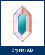 Art 2776 Elongated Hexagon Crystal AB