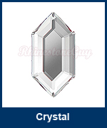 Art 2776 Elongated Hexagon Crystal