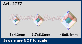 Swarovski Art 2777 Concise Hexagon Sizes