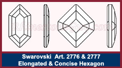 Swarovski Hexagon Art 2776 and 2777