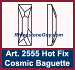 Swarovski 2555 cosmic baguette hot fix