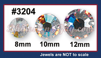Swarovski 3204 rhinestone sizes