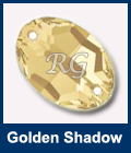 Swarovski Oval Golden Shadow