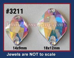 Swarovski 3211 Sew On Sizes