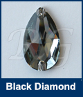 Swarovski 3230 Pear Black Diamond