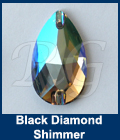 Swarovski 3230 Pear Black Diamond Shimmer