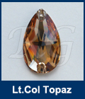 Swarovski 3230 Pear Light Colorado Topaz