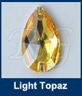 Swarovski 3230 Sew On Pear Light Topaz