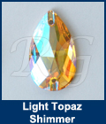 Swarovski 3230 Light Topaz Shimmer Sew On Pear