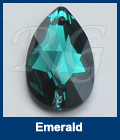 Swarovski 3230 Pear Emerald