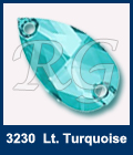 Swarovski 3230 Pear Light Turquoise