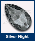 Swarovski Sew On Pear 3230 Silver Night
