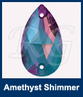 Swarovski 3230 Sew On Pear Amethyst Shimmer