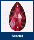 Swarovski 3230 Sew On Pear Scarlet