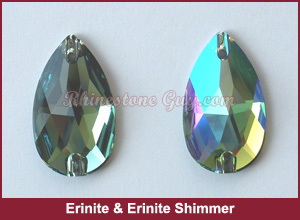 Swarovski 3230 Erinite Shimmer Sew On Pear