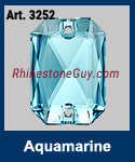 Swarovski Emerald Cut Aquamarine 3252