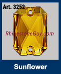 Swarovski 3252 Emerald Cut Sunflower