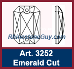 Swarovski 3252 Emerald Cut
