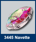 Swarovski Navette Sew On Crystal AB