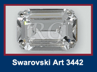 Swarovski 3442 Octagon Fancy Stone in Setting