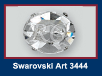 Swarovski 3444 Oval Fancy Stone in setting