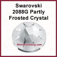 Swarovski 2080G Partly Frosted Rhinestones