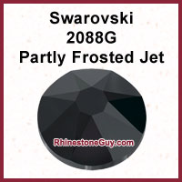 Swarovski 2088 G Partly Frosted Jet