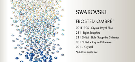 Swarovski Ombre Effect Rhinestones Frost and Ice
