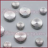 Convex Rings Silver Hot Fix nailheads