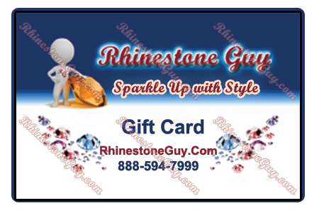 Rhinestone Guy Sample of Gift Card