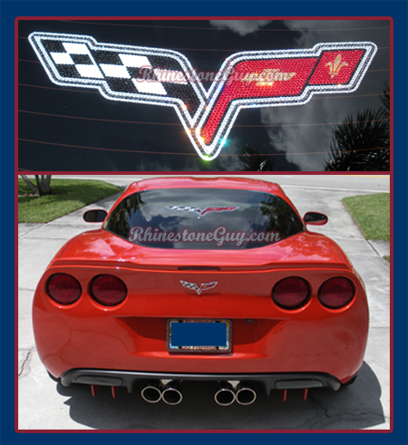 Corvette Rhinestone Decal