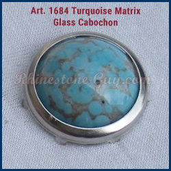 Art 1684 Round Cabochon in Setting