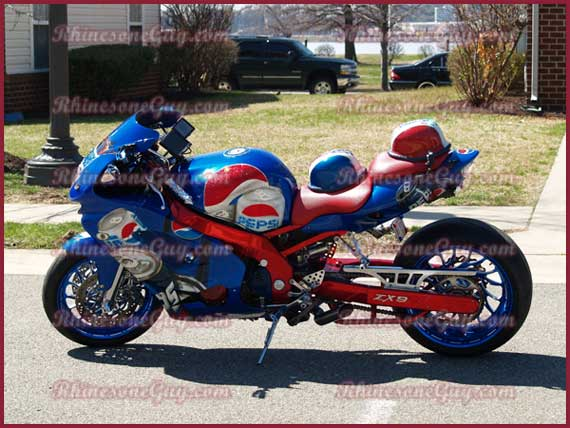 Racing Bike Embelished with Rhinestones