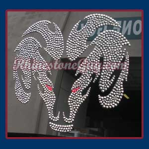Dodge Ram Decal with Hematite rhinestones