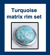 Turquoise Matrix in Rim Set