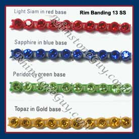 Rhinestone Cup Banding Colors
