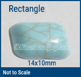 RG acrylic turquoise rectangle