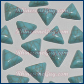 Trianble turquoise cabochons
