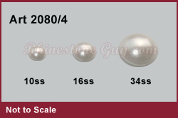 Swarvoski 2080-4 Pearl Sizes