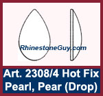 swarovski 2308 pear pearl diagram